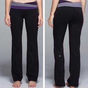 LULULEMON Astro Pant black & purple Women's 4